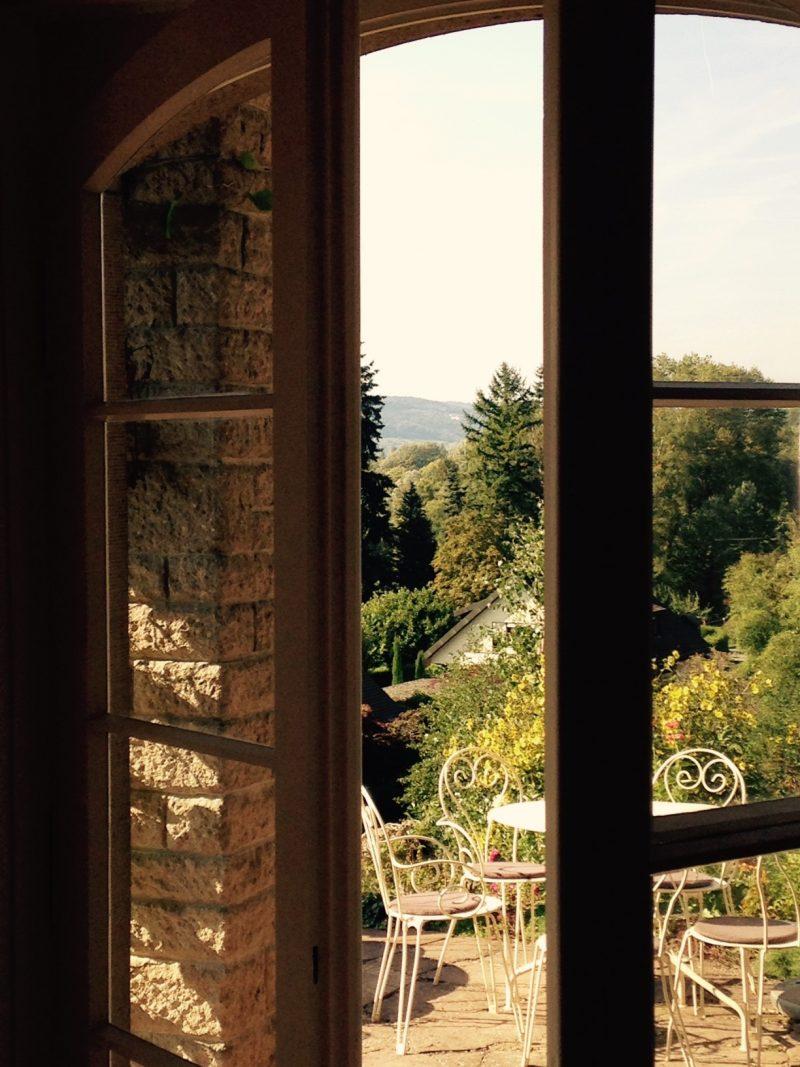 Blick von der Treasse des Dix Hauses auf den See