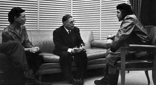 Foto von Simone de Beauvoir, Jean-Paul Sartre und Che Guevara