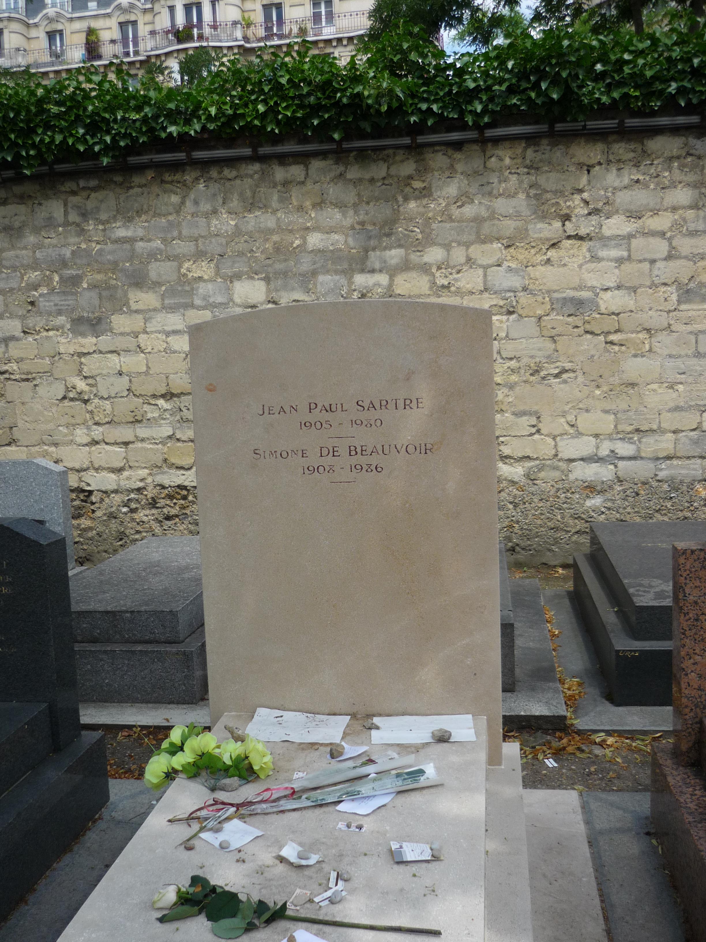 Foto des Grabes von Simone de Beauvoir und Jean-Paul Sartre