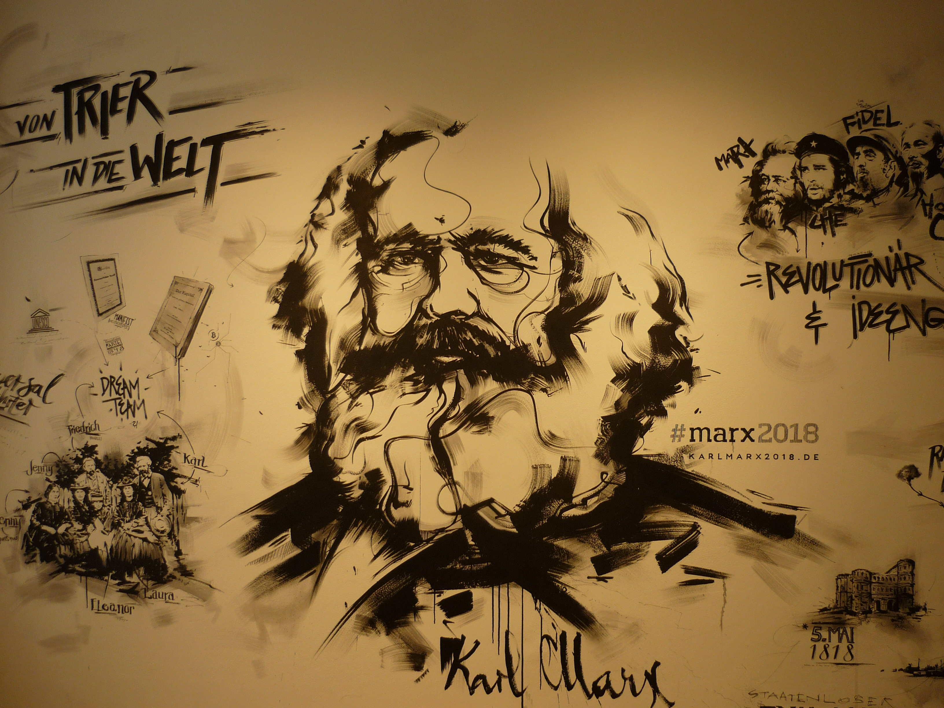 Wand im Karl Marx Haus
