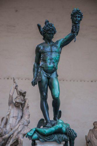 Statue von Cellini, Medusa und Preseus