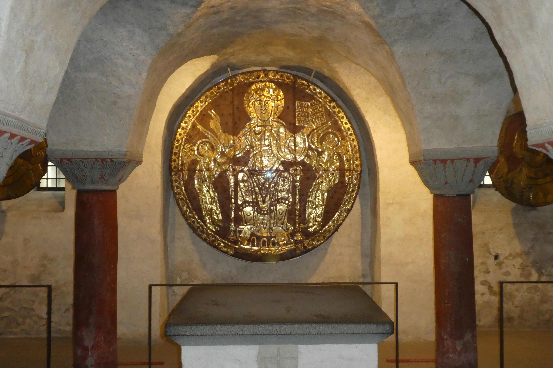 Christusscheibe in der Krypta des Konstanzer Münsters