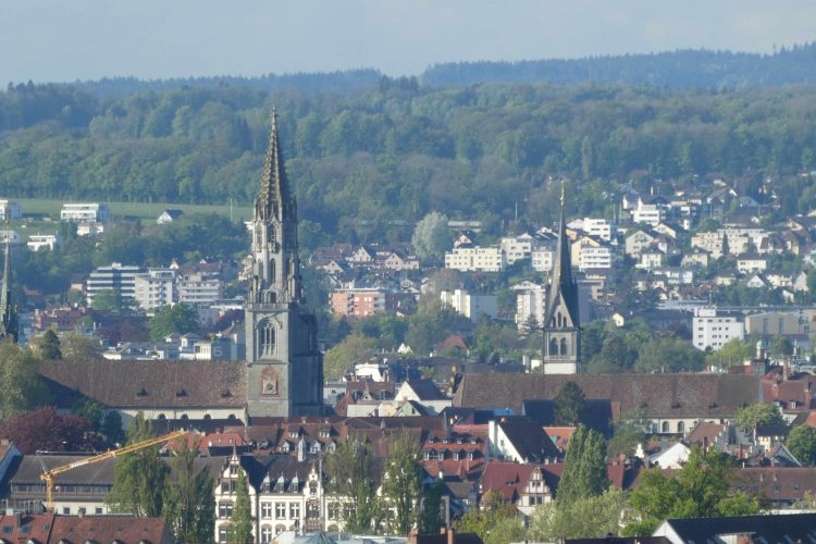 Aussicht vom Bismarckturm auf die Altstadt