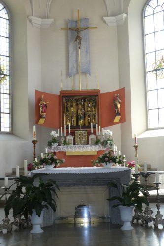 Hochaltar in der Kirche Mariä Heimsuchung in Meersburg