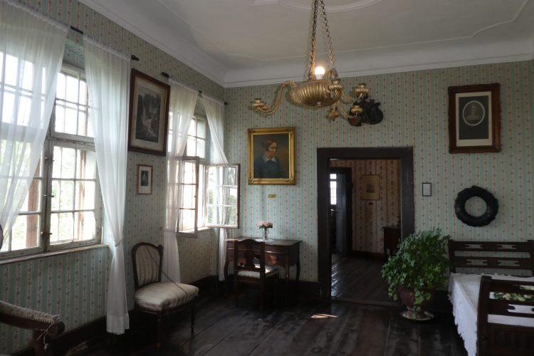 Sehenswürdigkeiten in Meersburg: Schlafzimmer von Annette von Droste-Hülshoff