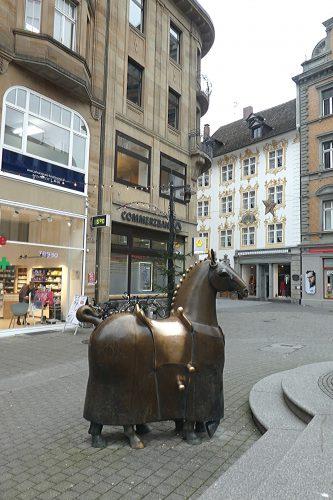 Pferd am Kaiserbrunnen in Konstanz