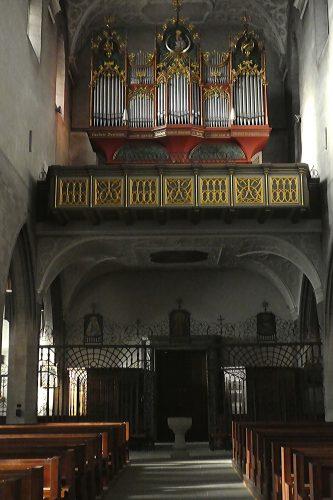 Orgelempore im Radolfzeller Münster