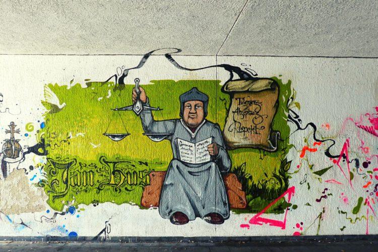 Graffiti Jan Hus Konstanz