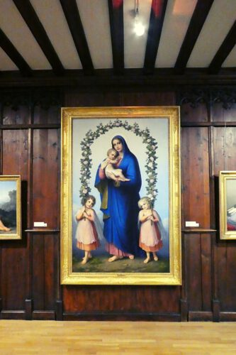 Marie Ellenrieder, Maria mit dem Jesuskind im Rosenbogen, 1835